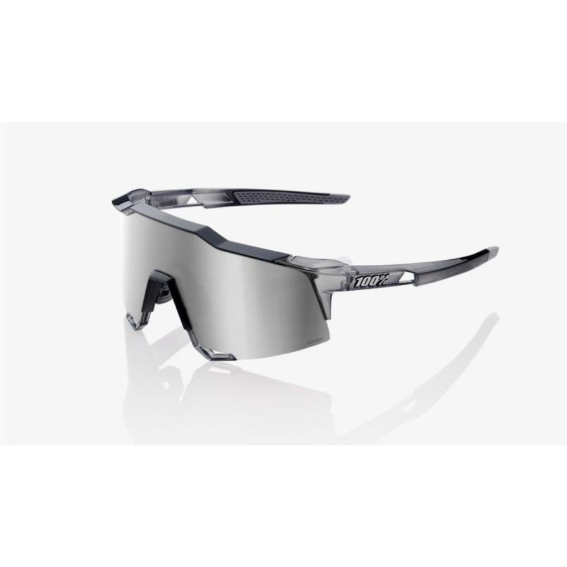 100% Percent Cycling Sunglasses Speedcraft Polished Translucent Grey - Silver Lens-Misc-The Gear Attic