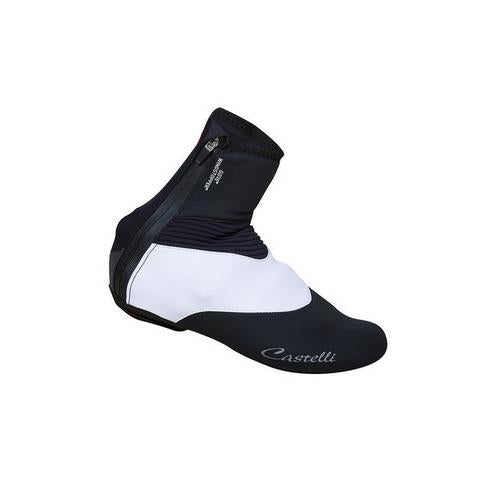 Castelli Cycling W Shoecover Womens Small Black/White Neoprene Gore® Windstopper®-Misc-The Gear Attic