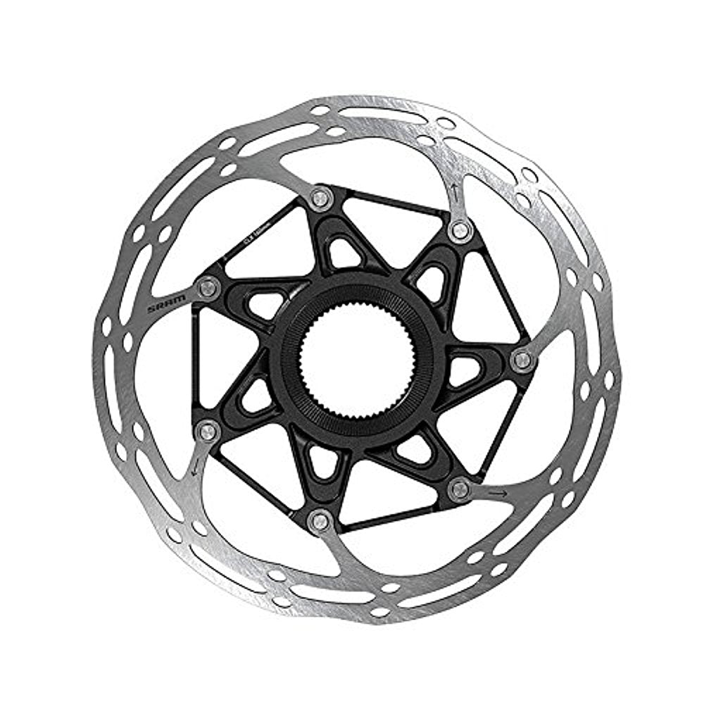 SRAM CenterLine X Rounded Rotor - Centerlock Silver/Black, 140mm-Sporting Goods > Cycling > Bicycle Components & Parts > Brake Rotors-The Gear Attic