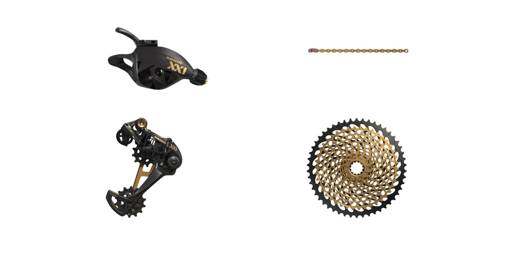 SRAM Eagle XX1 Gold Group w/ Derailleur, Shifter, Cassette, Chain