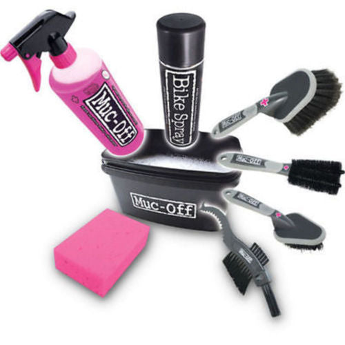 Muc-Off 8 in 1 Bicycle Cleaning Kit w/ Brushes and Cleaning Solutions New