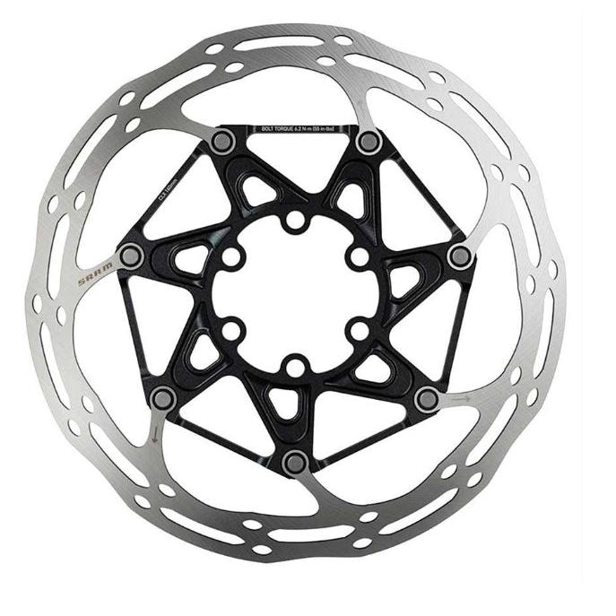 SRAM CenterLine X Rounded Bicycle Disc Brake Rotor Silver, 180mm-Sporting Goods > Cycling > Bicycle Components & Parts > Brake Rotors-The Gear Attic