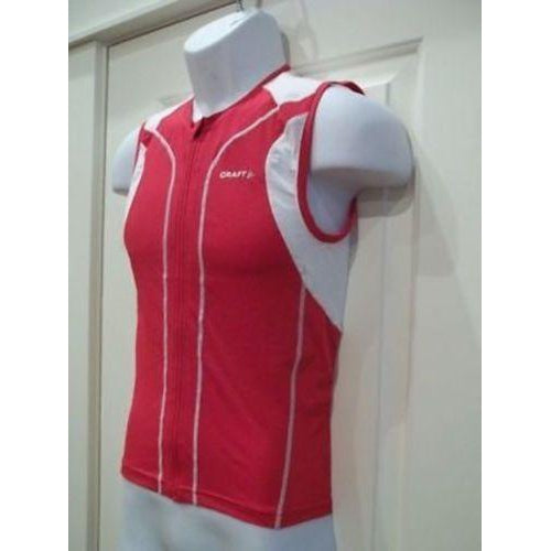 Craft Sports Men's Sleeveless Tri Top Bright Red Small New-Misc-The Gear Attic
