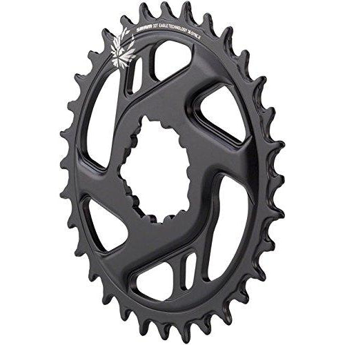SRAM X-Sync 2 Eagle Cold Forged Direct Mount Chainring Black, 32T/3mm Offset-Sporting Goods > Cycling > Bicycle Components & Parts > Chainrings & BMX Sprockets-The Gear Attic