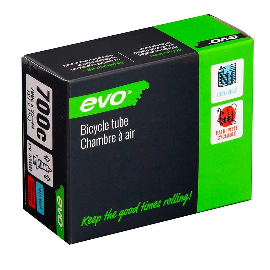 EVO, Presta, Bicycle Tube, Length: 48mm, 700C, 35-44C