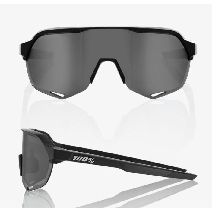 100% Percent Cycling S2 Sunglasses - Soft Tact Black - Smoke Lens-Misc-The Gear Attic