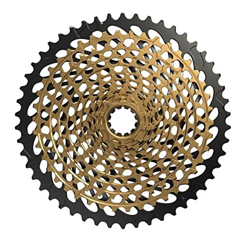 SRAM XG-1299 XX1 Eagle 12-Speed Cassette Gold, 10-50t-Sporting Goods > Cycling > Bicycle Components & Parts > Chainrings & BMX Sprockets-The Gear Attic