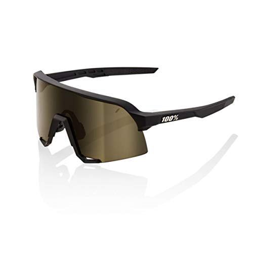 100% Percent Cycling S3 Performance Sunglasses Black Frame Gold Lens