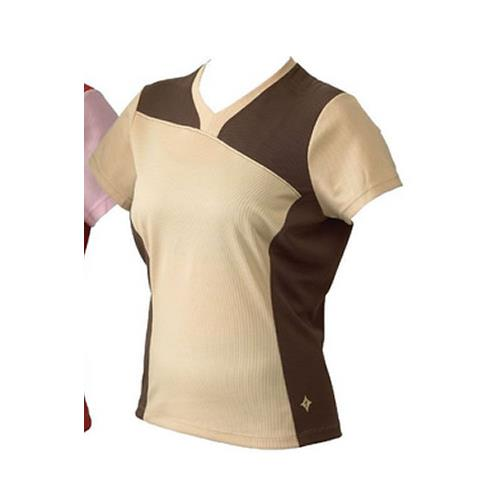 Specialized Cycling Womens Atlas Top Jersey Tan Large L-Misc-The Gear Attic