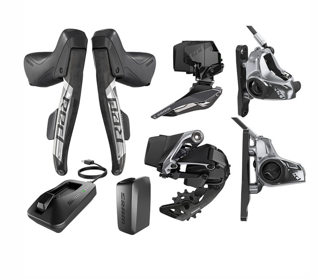 SRAM Red eTap AXS 2X Flat Mount HRD Disc Brake Road/Gravel Electronic Groupset