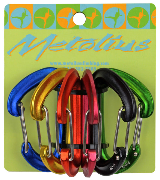 Metolius FS Mini Wiregate Carabiners (Jet Set) 6 pack