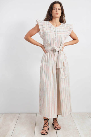 Apiece Apart Oaxaca Jumpsuit - Multi Stripe Cotton