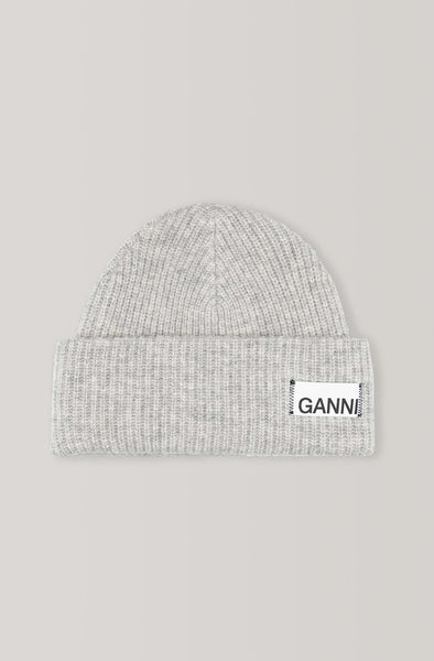 Ganni Knit Hat Paloma Melange Gray Grey pas mal nyc greenpoint brooklyn williamsburg boutique independent fashion lifestyle concept store