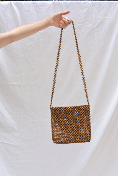 Abaca Ligaw Sling Bag Chestnut Wooden Bead pas mal nyc greenpoint brooklyn williamsburg boutique independent fashion lifestyle store