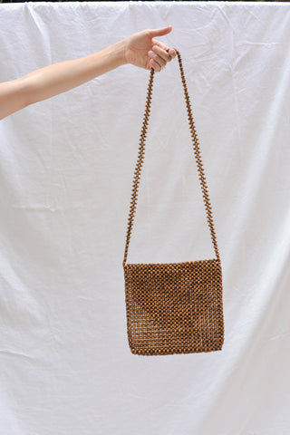 Abacá Ligaw Sling Bag - Chestnut Wooden Bead