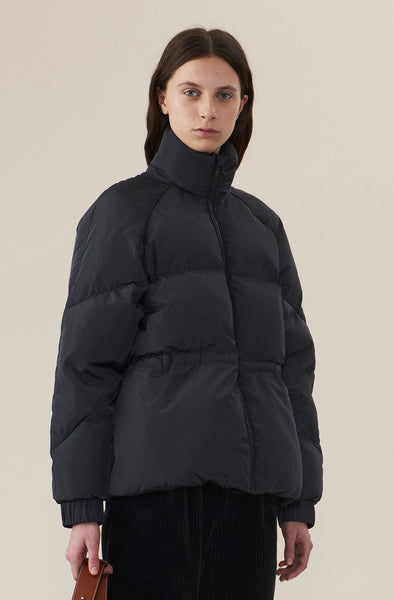 Ganni Tech Down Jacket Phantom new arrivals pas mal nyc greenpoint brooklyn williamsburg boutique independent fashion lifestyle concept store fall19 winter19