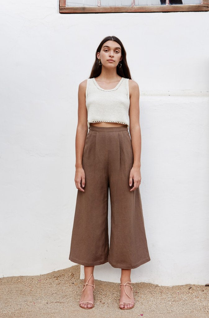 First Rite Crop Culotte Cocoa pas mal nyc greenpoint brooklyn williamsburg boutique independent fashion lifestyle concept store