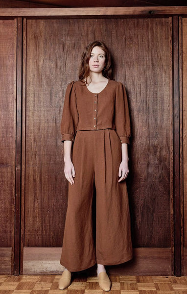 First Rite Pleated Culotte - Ginger