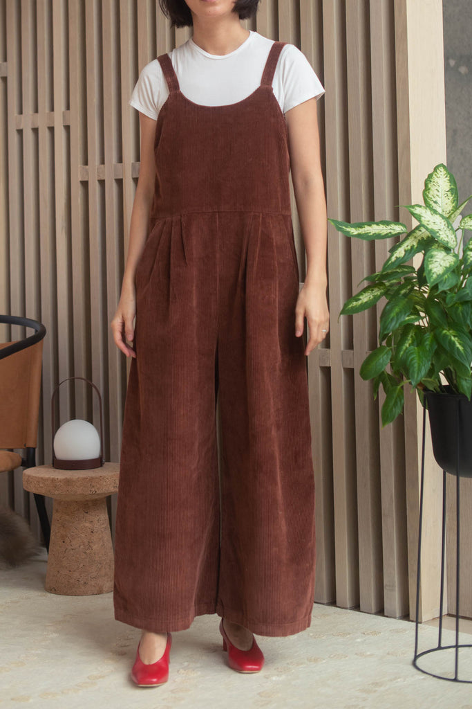 First Rite Crop Pantsuit - Sienna Corduroy   nyc greenpoint williamsburg brooklyn new york independent clothing store lifestyle boutique