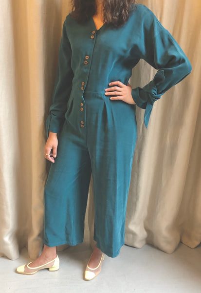 Diarte Sierra Jumpsuit teal pas mal nyc greenpoint brooklyn williamsburg boutique independent fashion lifestyle concept store