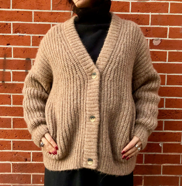 Lauren Manoogian Grandma Cardigan Natural Camel Oversized Knit new arrivals pas mal nyc greenpoint brooklyn williamsburg boutique independent fashion lifestyle concept store