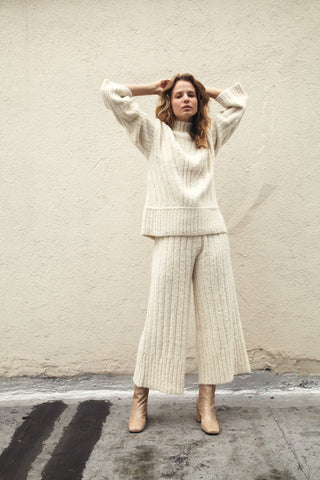Kordal Rowan Knit Trouser - Cream