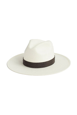[RESTOCKED] Janessa Leone Marcell Packable Straw Hat - Bleach