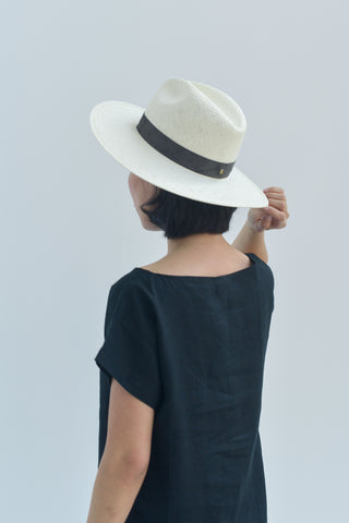 Janessa Leone Marcell Packable Straw Hat - Bleach