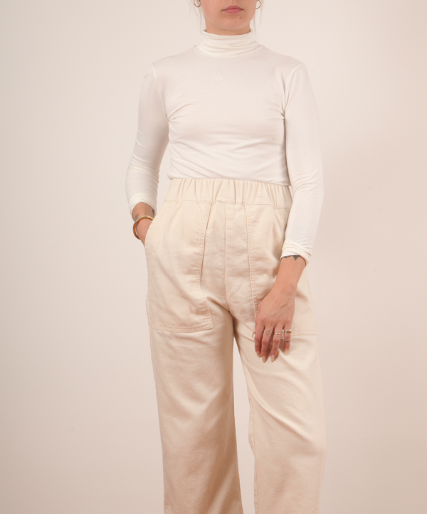 Micaela Greg Jersey Mock Turtleneck Cream pas mal nyc greenpoint brooklyn williamsburg boutique independent fashion lifestyle concept store