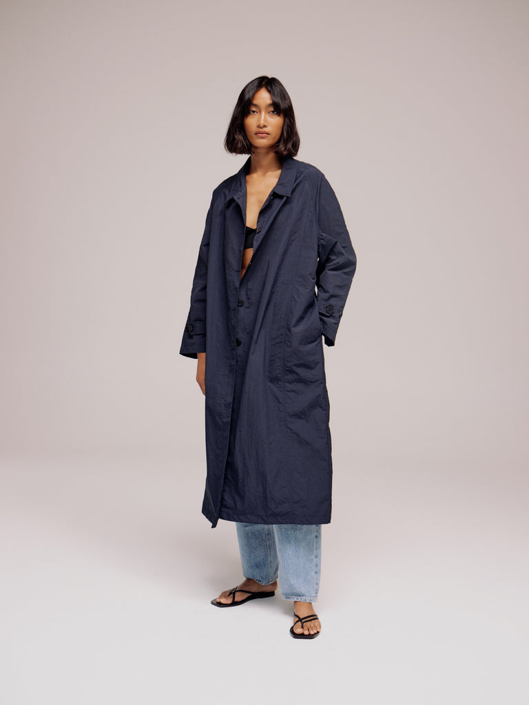 Mijeong Park Light Weight Belted Trench - Navy