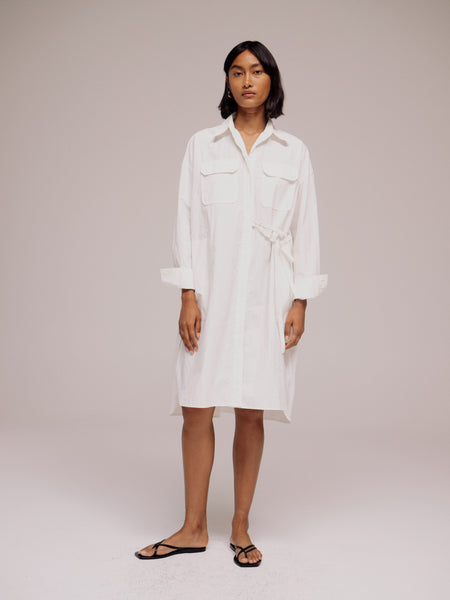 Mijeong Park Oversized Shirt Dress - White