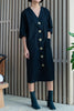 PM Selection cotton robe button down dress black pas mal nyc greenpoint williamsburg brooklyn new york independent clothing store lifestyle boutique bird totokaelo dreslyn woman contemporary lifestyle store shop small