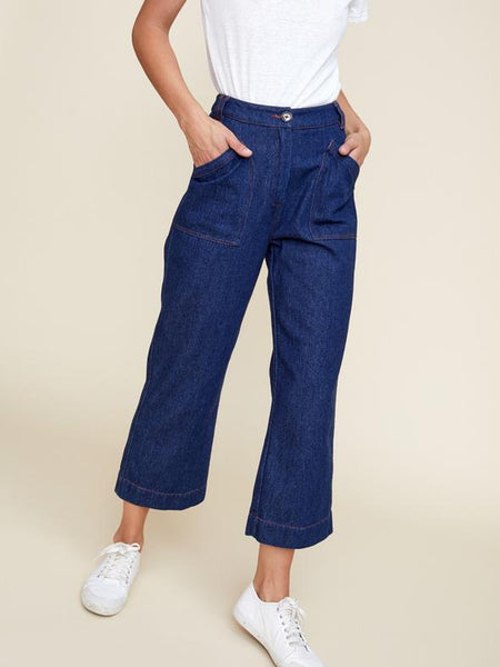 Ryder Pip Denim Pants- Indigo