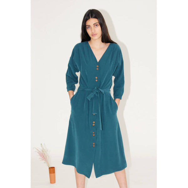 Diarte Raya Dress - Teal Green