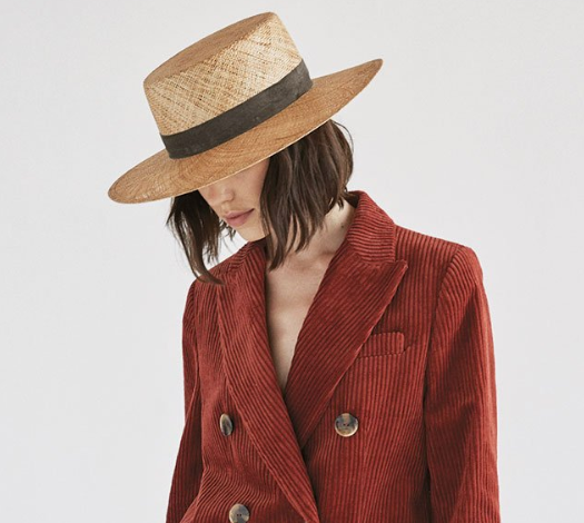 Janessa Leone Jade Hand Woven Straw Hat - Natural