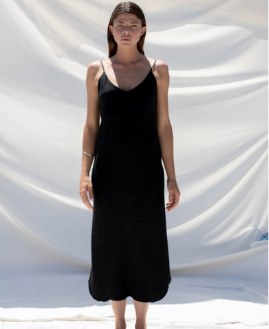 Ozma Bias Slipdress - Black