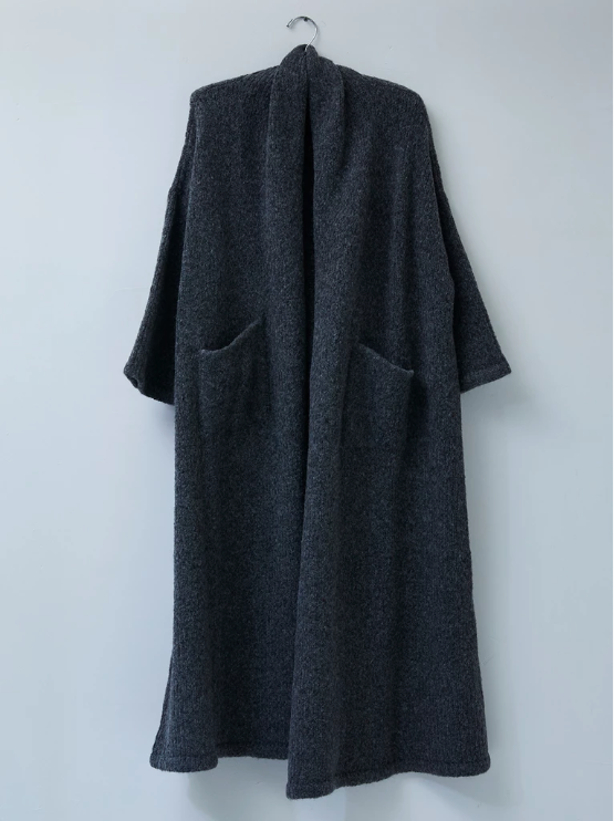 Atelier Delphine Haori Extra Long Coat Charcoal pas mal nyc greenpoint brooklyn williamsburg boutique independent fashion lifestyle concept store