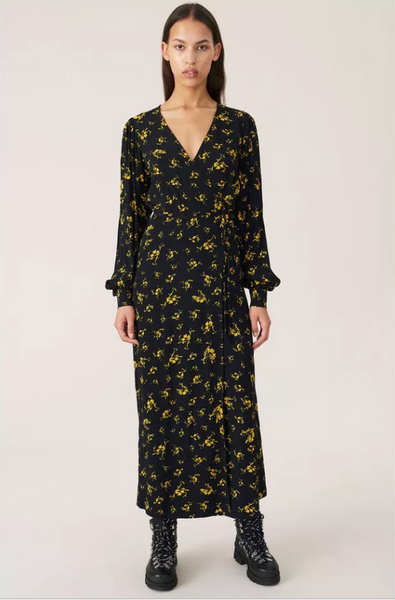 Ganni Printed Crepe Wrap Dress pas mal nyc greenpoint brooklyn williamsburg boutique independent fashion lifestyle concept store