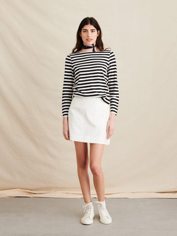 Alex Mill Boatneck Tee - Striped Modal