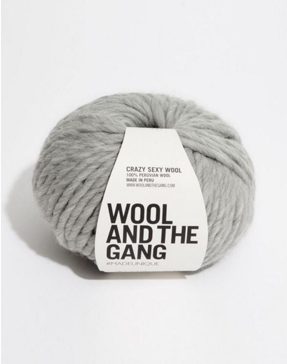 Wool and the Gang, Knitting, Crazy Sexy Wool, Rocky Grey, Gray, Peruvian Wool, pas mal nyc greenpoint new york boutique shopping