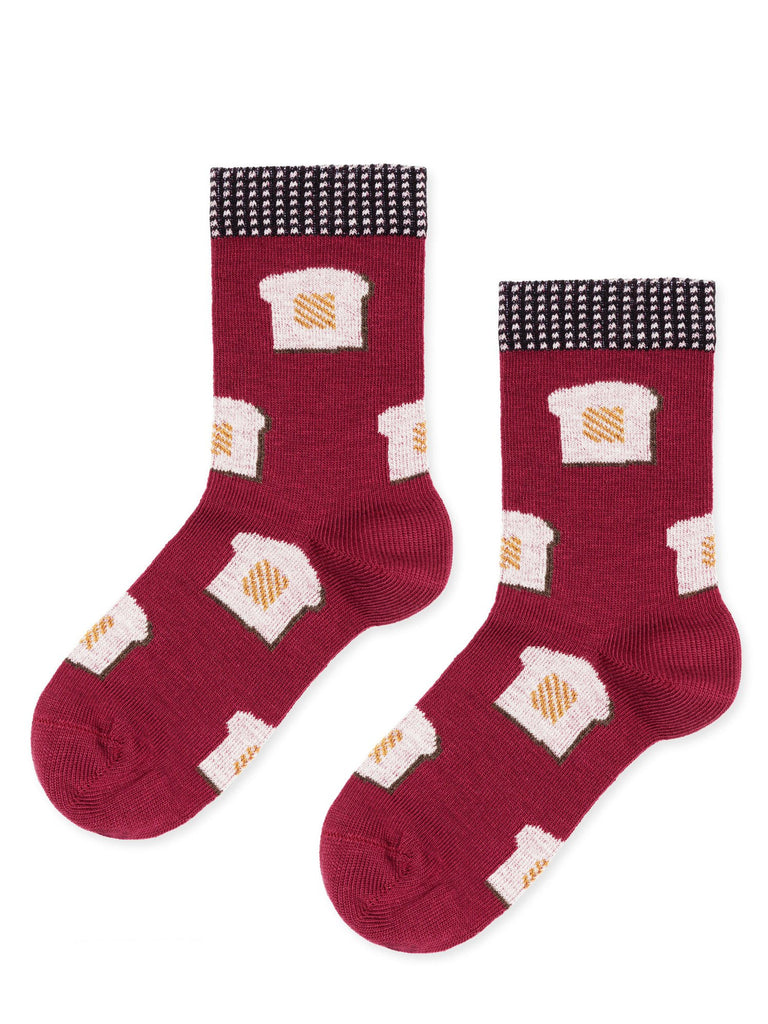 Hansel From Basel Kids, Mini Toast Crew, Berry, Red, Cotton, Socks, Hansel From Basel Kids, Mini Thumbprint Crew, Wheat, Cotton, Socks, Pas Mal NYC, Greenpoint, New York, Boutique, Shopping