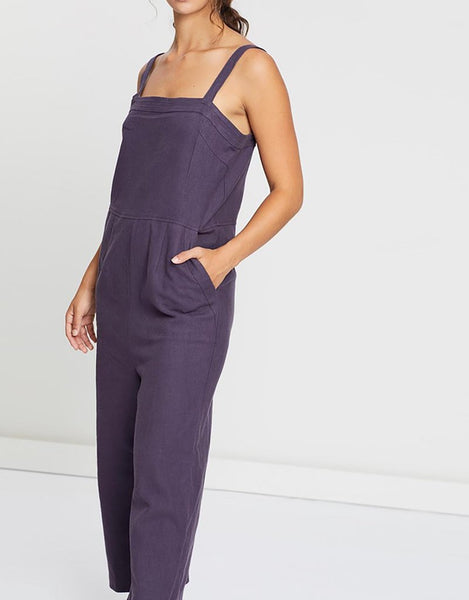 Ryder Amy Jumpsuit - Navy Linen