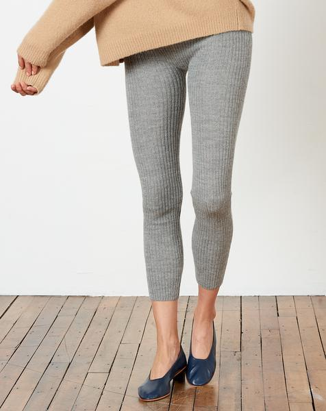 Lauren Manoogian Rib Leggings - Felt Grey Alpaca
