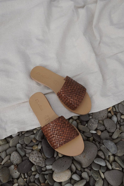 ST. AGNI Dori Woven Slide Antique Tan pas mal nyc greenpoint brooklyn williamsburg boutique independent fashion lifestyle concept store fall19 winter19