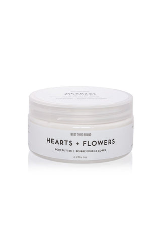 West Third Brand Body Butter - Hearts + Flowers