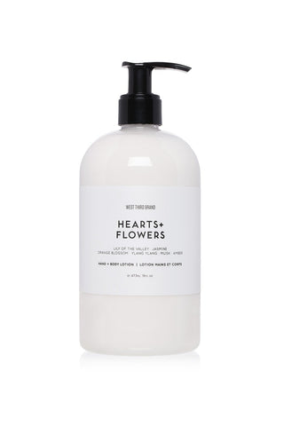 West Third Brand Hand + Body Lotion - Hearts + Flowers