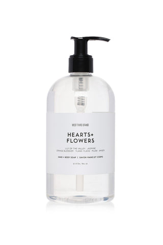West Third Brand Hand + Body Soap - Hearts + Flowers