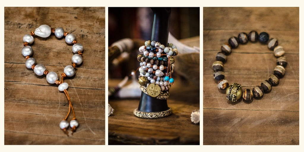 The Scarab Tribe Finds | Pearl Bracelets by 2 Chicas