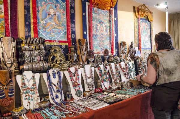 Tibetan Jewelry | The Scarab Tribe Finds | Gem and Mineral Show