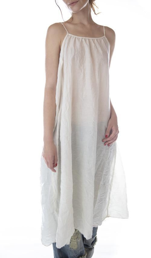 Slip 94 - Cotton Silk Audrey Simple Slip with Adjustable Thin Straps, Raw Edges and Seams by Magnolia Pearl